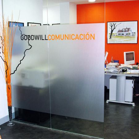 Vista de la oficina de Goodwill Comunicación