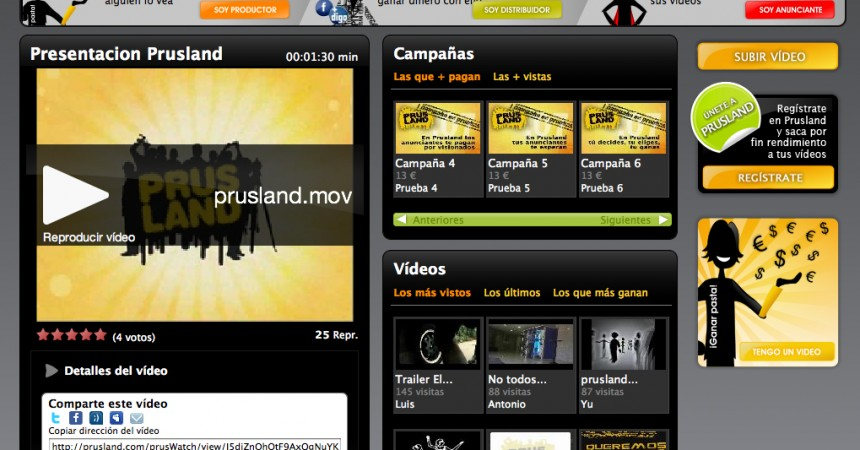 Prusland, la lonja publicitaria del vídeo online
