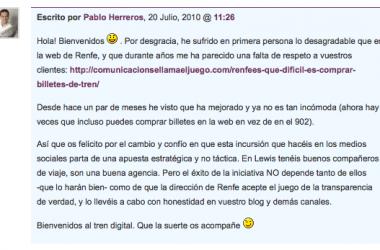 ¡Paren las máquinas, Renfe monta un blog!