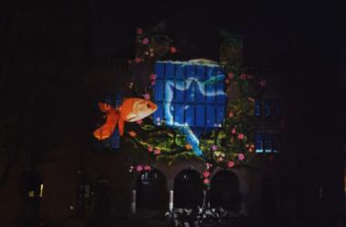 3D Mapping Projection: arte de música y luz sobre un edificio