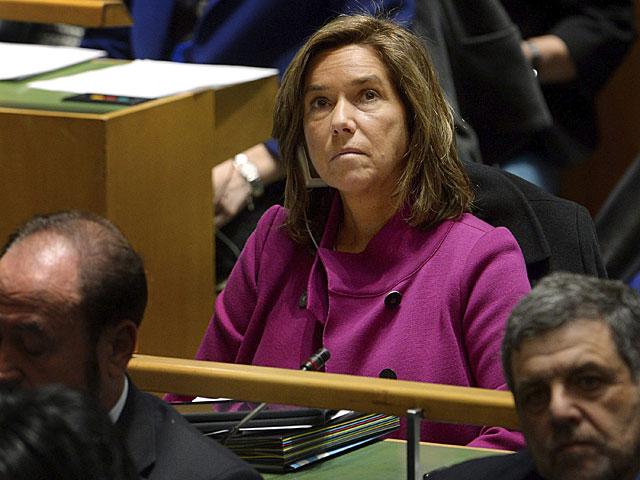 La ministra de Sanidad, Ana Mato, ayer en la comisión de la ONU sobre la Mujer. (Foto tomada prestada de Efe)
