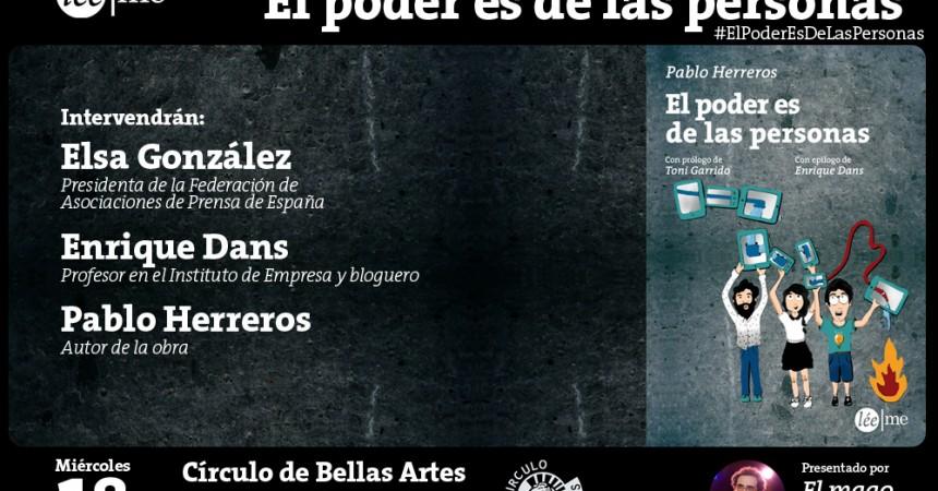 Ven el miércoles 18 a conocer en Madrid #ElPoderEsDeLasPersonas