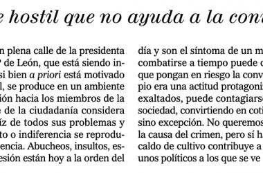 El bochornoso editorial de El Mundo sobre el asesinato de Isabel Carrasco