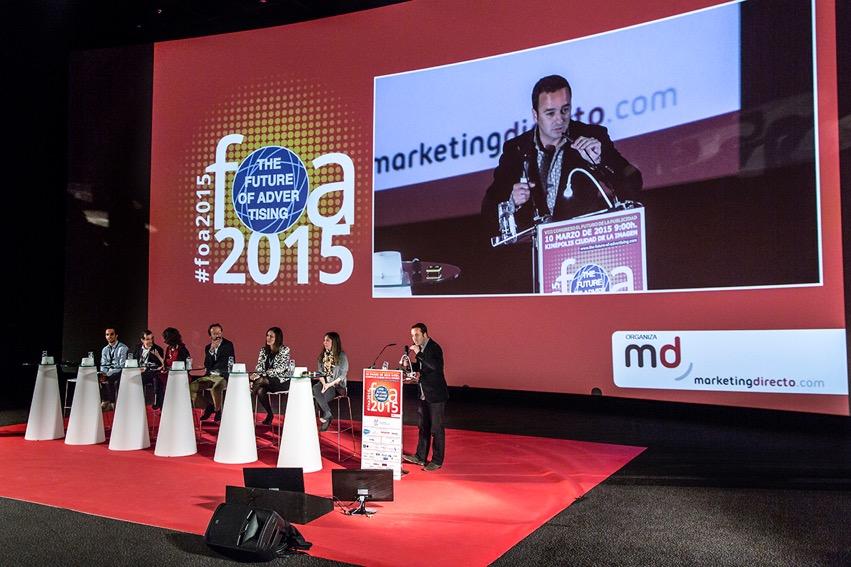 Mesa de debate de anunciantes en FOA2015