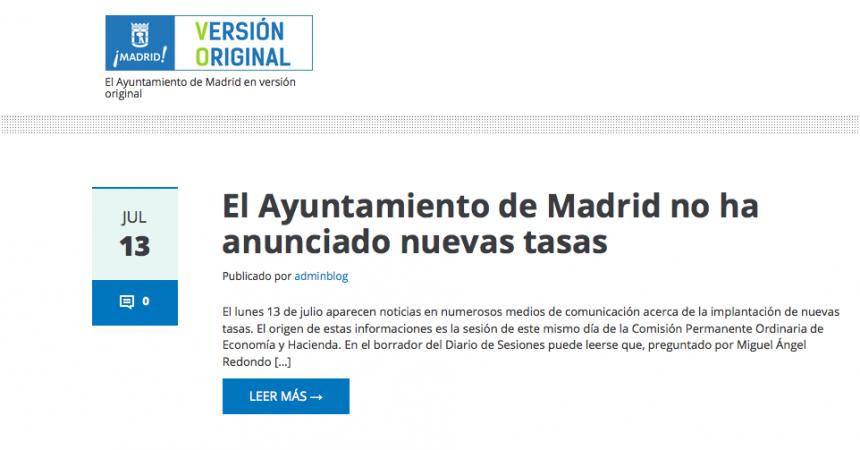 Madrid VO, la virginidad de los medios y el dedo de regañar