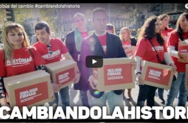 El autobús del cambio: #Cambiandolahistoria (vídeo)