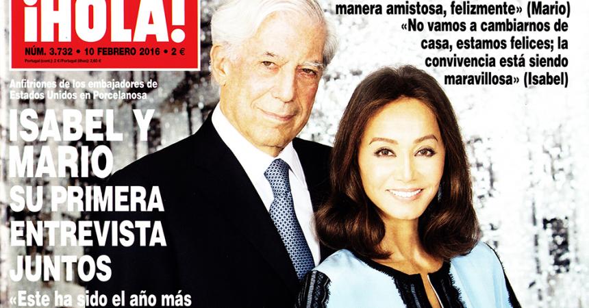 Que no, que Vargas Llosa no quiere salir en el ¡Hola!