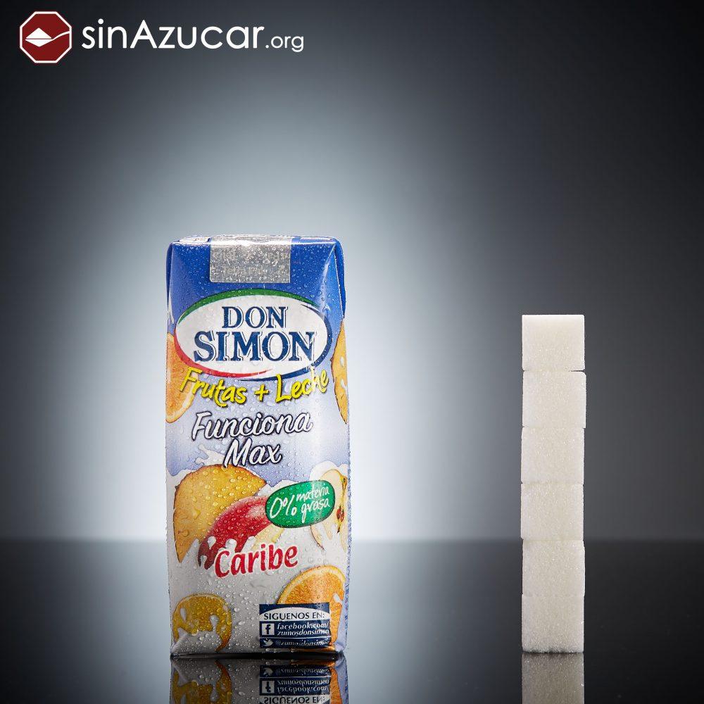 Un brik de Don Simón Funciona Max Caribe (330ml) tiene 23,8g de azúcar, casi 6 terrones.