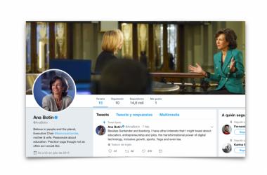 El reto tuitero de Ana Botín