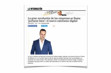 """""""La gran revolución de las empresas se llama 'portarse bien'"""": artículo de Carlos Salas en Lainformacion.com"""