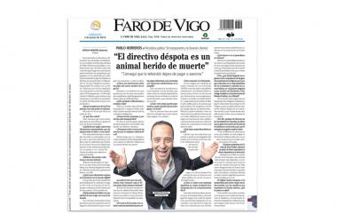"""""""El directivo déspota es un animal herido de muerte"""": entrevista en diarios regionales"""
